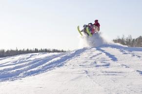 Schnee-Scooter in Finnland