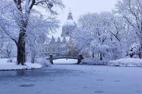 Neues Rathaus Hannover im Winter