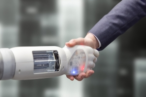Roboter gibt die Hand A4172